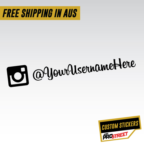 Custom instagram name car sticker decal