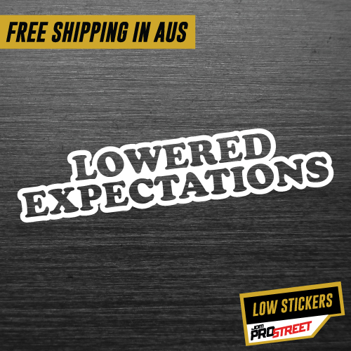 LOWERED EXPECTATIONS JDM CAR STICKER DECAL Drift Turbo ...  LOWERED EXPECTA...