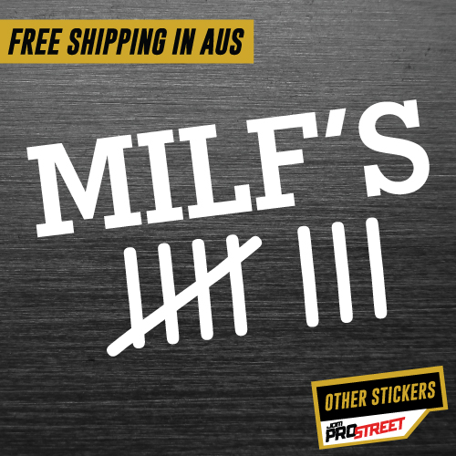 Milf counter jdm car sticker decal