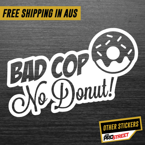 Bad cop no donut jdm car sticker decal