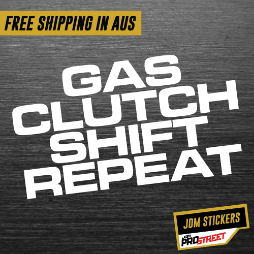 Gas clutch shift repeat jdm car sticker decal