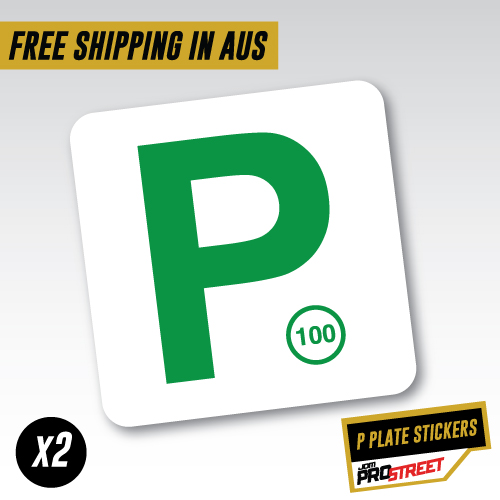 Green nsw p plate x2 car sticker decal