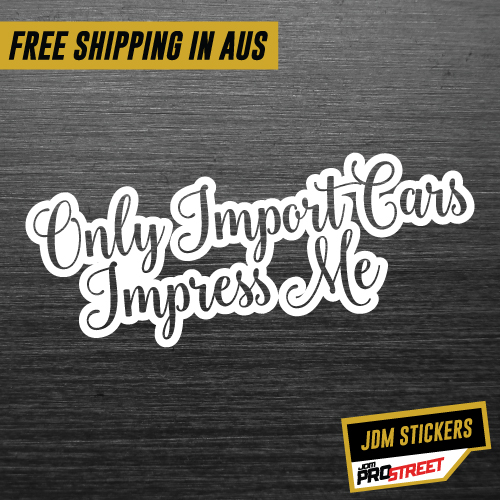 Only import cars jdm car sticker decal