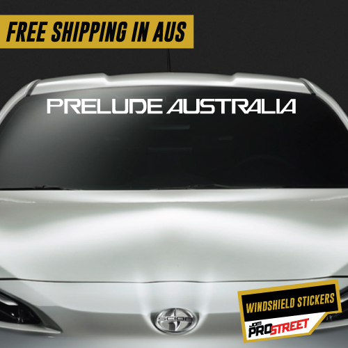 Prelude australia windshield car club sticker decal