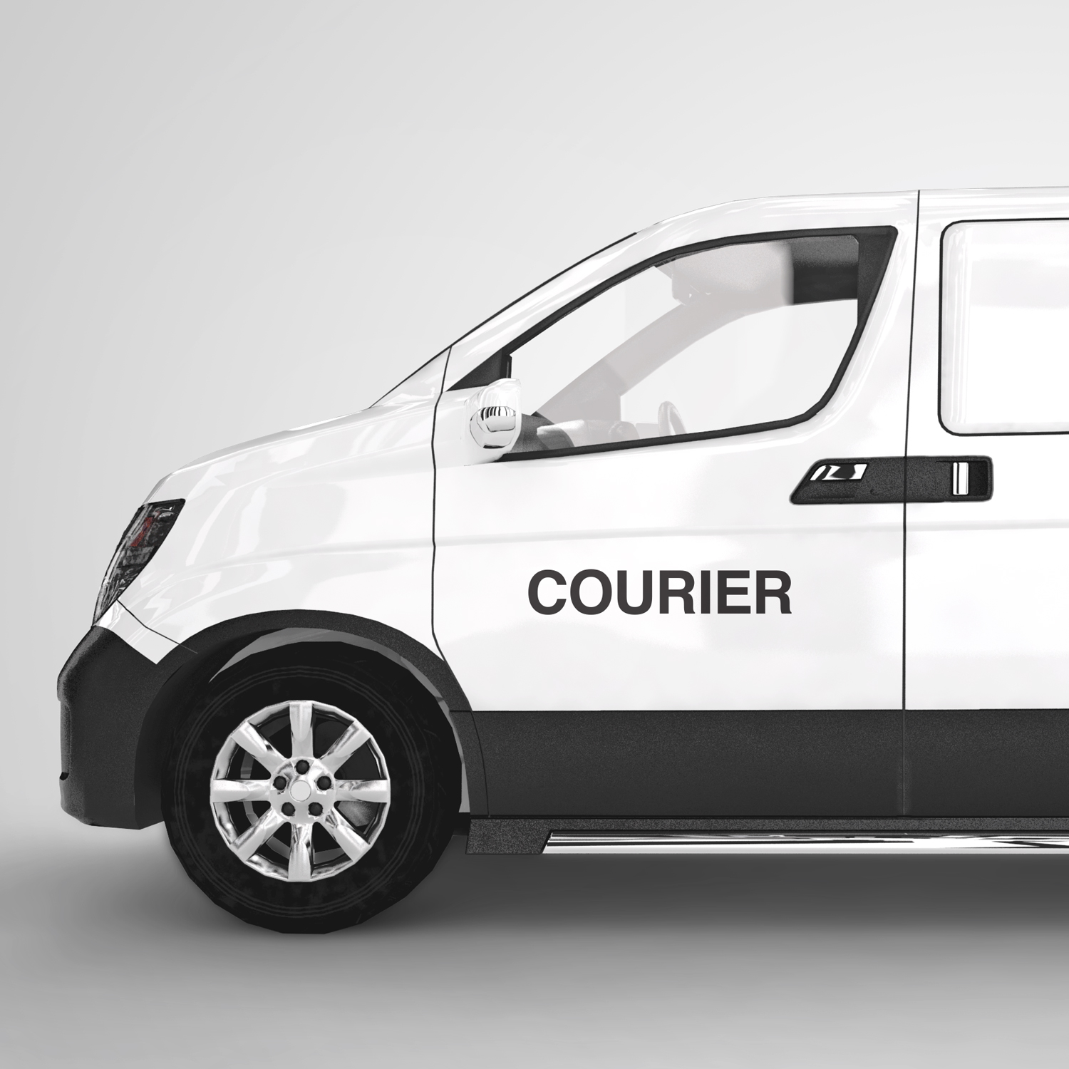 Courier business x2 car sticker decal